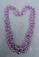 Antique Art Deco Amethyst Bead Necklace Circa 1920's
