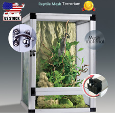 42 x 42 x 66 cm Reptile Tank Cage Pet Enclosure for Frog Lizard Snake Turtle Us