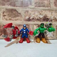 Imaginext Marvel/Avengers Figures - Hulk, Captain America
