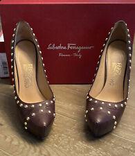Salvatore Ferragamo Women's High Heels Shoe Size 8 Brown C5 10996 K20