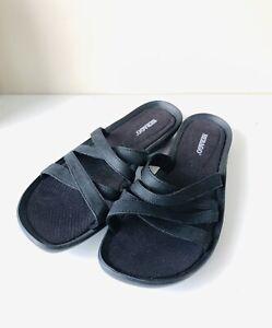 Sebago   Sz 39 8 US   Black Slides Sandals   Strappy