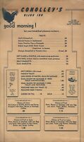 Vintage 1940s-1950s CONOLLEY'S BIJOU INN Breakfast Restaurant Menu Lake Tahoe CA
