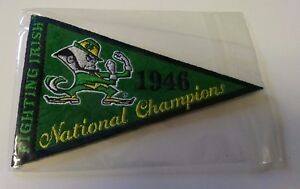 2013 Upper Deck NOTRE DAME FIGHTING IRISH 1946 National Championship Pennant