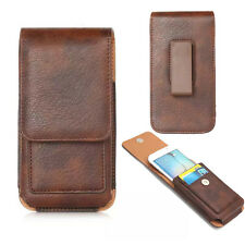 Brown Vertical Case Belt Clip Holster for iPhone 8 Plus / Motorola Moto G6 Plus