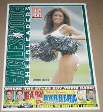 New listing 2003 CORINNE CAVUTO PHILADELPHIA EAGLES CHEERLEADERS FOOTBALL POSTER DAILY NEWS