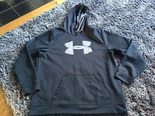 Under Armour Men's Black Hooded Top Size 2 XL  VGC