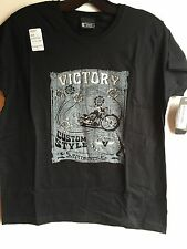 Victory Custom Style Short Sleeve T-shirt In Black And Silver ( Size M) NWT