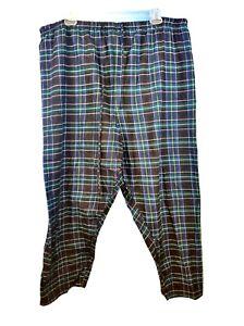 GREEN & BLUE PLAID Mens PJ Sleep Lounge FLANNEL Pajama LIGHTWEIGHT Pants size 4x