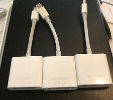 Lot of 3 x GENUINE Original Apple Mini DisplayPort to DVI Adapter A1305    xs-v3