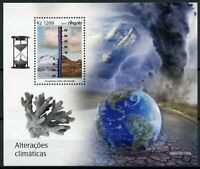 Angola Science Stamps 2019 MNH Climate Change Environment Melting Glaciers 1v MS