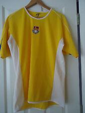Men's British Soccer Challenger Teamwork Jersey Shirt Size Medium Yellow