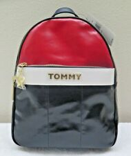 Tommy Hilfiger Red White Blue Peyton Patent Leather Backpack 6949975 467