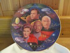 1997 Hamilton Collection StarTrek 30thAnniv CollectorPlate Captains Tribute COA