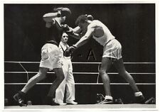 WWII GERMAN Large 1936 OLYMPIC Sports Photo Image- Boxing- Boxers- Runge- Lovell
