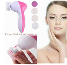 Multifunction Electric Skin Care massage Face Facial Cleansing Brush Spa 5-1
