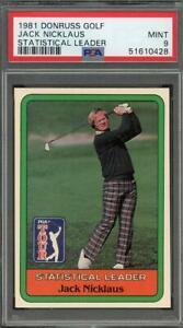 1981 Donruss Golf Statistical Leader RC Jack Nicklaus PSA 9 Mint HOF