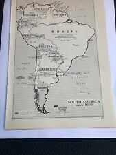 Map Of South America Since 1800 Power Strength  Jan 1914 Britain USA Italy Germ