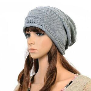 Unisex Women's Men's Winter Knitted Slouch Beanie Stretch Hat Cap HAT01