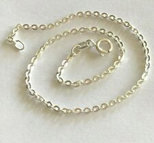 """Wide Circle Link $7.19 ea. Sterling Sterling Silver .925 Anklet Italian 9"""""""