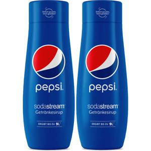 2 x SodaStream Pepsi Flavour Syrup 440ml Concentrate for 9L Homemade Fizzy Juice