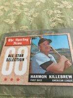 (7) 1968 topps hall of famer all-star cards- each in very good to excellent