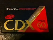 Teac CDX 60 cassette x 3 Type 1 Normal bias high density for CD Hi-fi recording