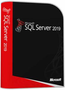 SQL Server 2019 Enterprise/Standard License Key Unlimited Cores CPU & User Cals