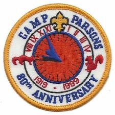 Camp Parsons 80th Anniversary patch 1999 - Chief Seattle Council