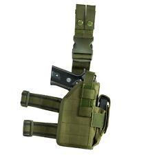 NcStar CVDLHOL2954 GREEN Universal Tactical Leg Holster Handgun Pistol Mag Pouch