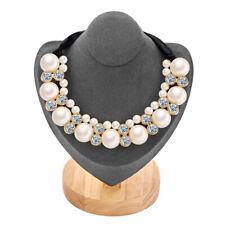 Fashion Women Big Pearl Pendant Necklace Bridal Wedding Bib Statement Jewelry