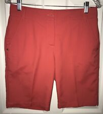 PUMA Pounce Tech Bermuda Golf Shorts, Women's Size 4 Red 568359 Stretch EUC