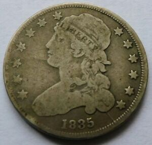 1835 Capped Bust Silver Quarter 25C