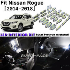 6x White LED Interior Lights Package Kit For 2014 - 2016 2017 2018 Nissan Rogue