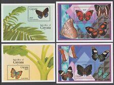 Guyana 1994 Set of 4 Butterflies M/Sheets NHM