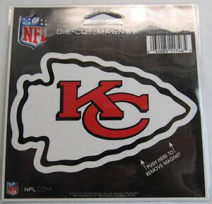 NFL Kansas City Chiefs 4 inch Auto Magnet Die-Cut by WinCraft