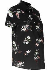 Umstandsbluse Stillbluse Gr. 42 Schwarz Umstands-Bluse Hemd Shirt Tunika Neu*