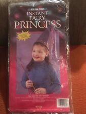 Instant Fairy Princess Children Halloween Costume One Size 2-8 Yrs NIP W/Hat