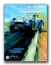 1965 Cobra Road Races Riverside SAC Event -Ken Miles Racing Car Poster! Own It!!