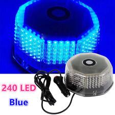 Blue 240 LED Emergency Car Rotating Round Beacon Rooftop Flash Strobe Light 12V