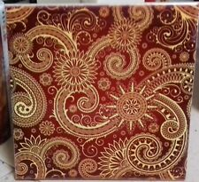 Indian  mandala pattern beautiful old painting,decorative CERAMIC TILE