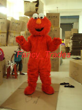Sesame Street Red monster Elmo Adult Size Mascot Costume Halloween EPE Suit