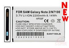 SAMSUNG GALAXY NOTE 2, N7100, 2200 MAH LITHIUM-ION BATTERY