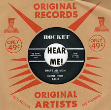 ROCKABILLY REPRO: RONNY HINES - That's All Right/I Got A Woman ROCKET - FRANTIC!