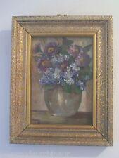 tabieau pot de fleur signé