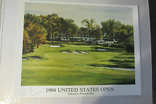 Ernie Els and Artist HAND SIGNED 1994 U.S. OPEN Lithograph  #143/500 JD HYDE