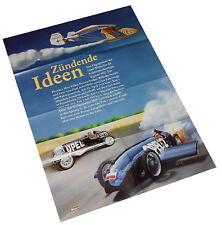 Opel Rak 1 Rak 2 Poster Beilage Opel Start 90er Jahre Auto PKWs Deutschland