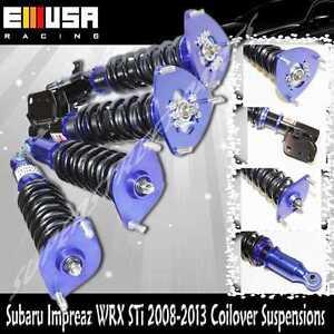 Coilover Suspension  for 08-13 Subaru Impreza WRX STi Wagon 4d 2.5T BLUE