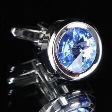 Azul Celeste Piedra Preciosa Gemelos Para Boda Hombre Moderno