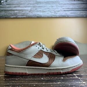 Nike Womens Dunk Low Cognac Sneakers Beige Brown 309324-212 Lace Up Shoes 9
