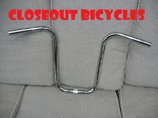 "SMALL CHROME BICYCLE APE HANGER 13""x26"" HANDLEBAR LOWRIDER CHOPPER CRUISER"